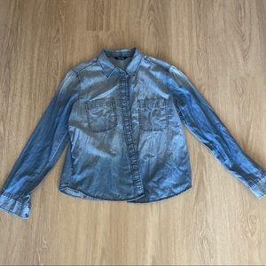 [Express] Long Sleeve Denim Shirt - M